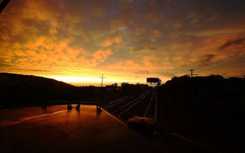 train-ride-at-sunset