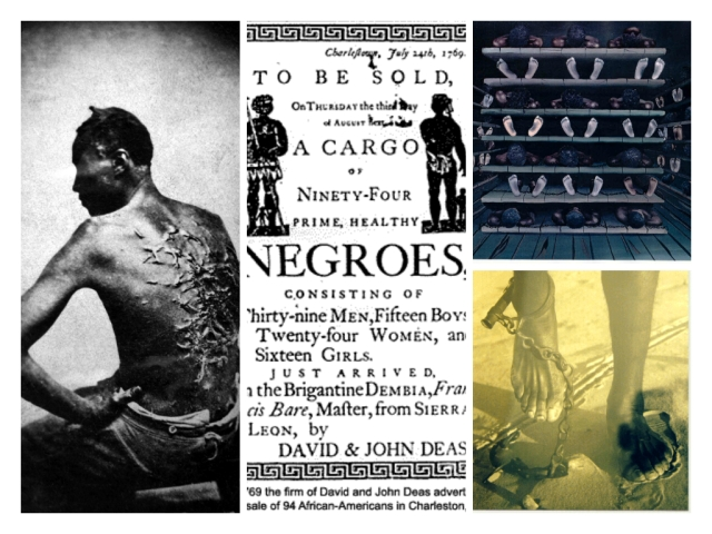 slavery collage